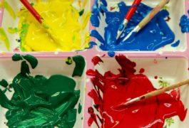 Kinder lernen malen, Techniken, Umgang mit Farben lernen