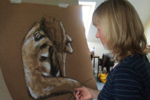 Malen lernen in der Akademie Jork, Elena-Florentine Kühn