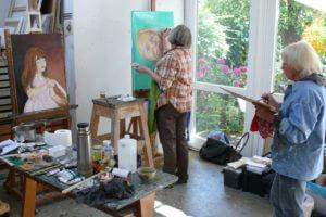 Malen Zeichnen Skizzieren lernen, Akademie Elena Kühn, Atelier