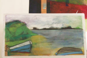 Malen, malen lernen in schöner, lockerer Atmosphäre im Atelier oder auch im Garten