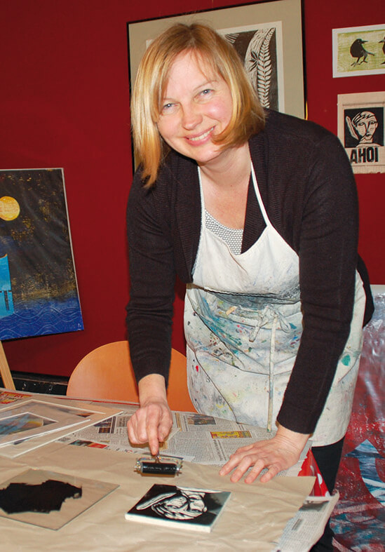 Kurs Drucktechniken von Illustratorin, Künstlerin